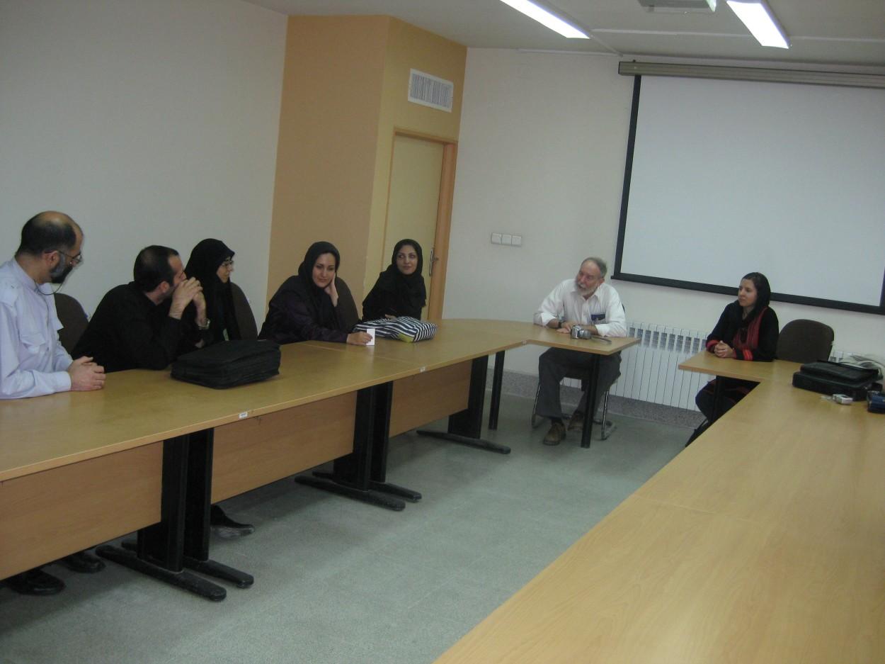 Speaking with American Studies students at Tehran University
