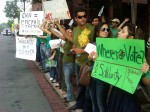 Pro-democracy rally in front of the Iranian interests section in Washington, DC attended by nearly 1,000 Iranians