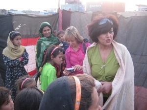 Medea and Nooria in Afghanistan -- click on the image to see more pictures from the delegation