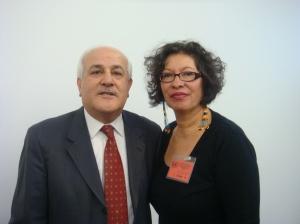 Palestinian Ambassador Riyad Mansour and Judith Le Blanc, Peace Action