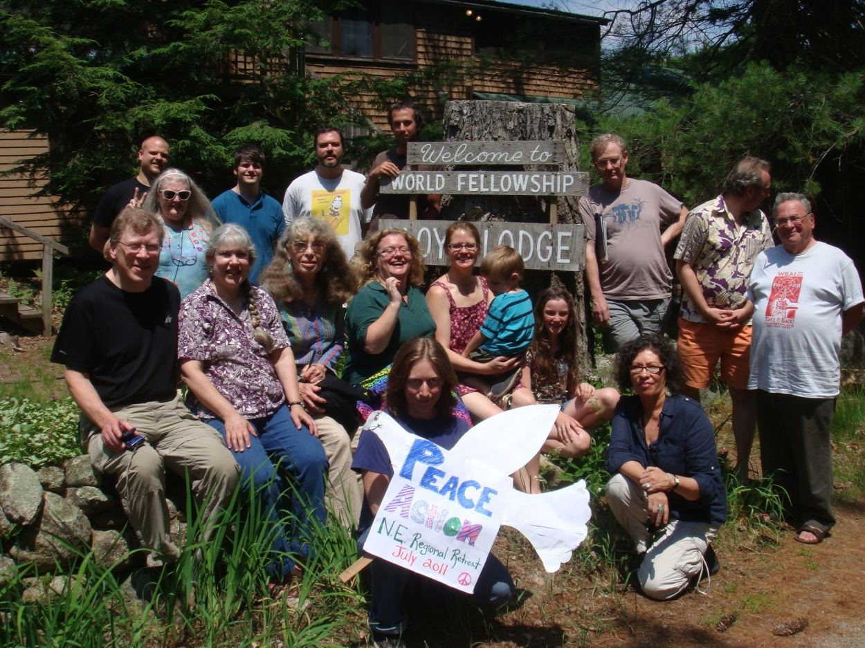 Peace Action affiliate leaders from New England pose for a group photo after several days of planning