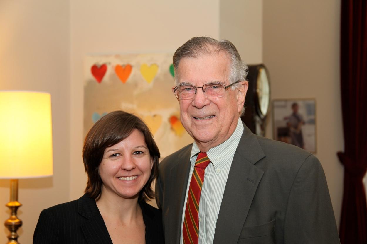 Rebecca Griffin with Rep. Pete Stark