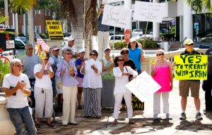 Peacemongers in Sarasota, Florida at the office of US Rep. Vern Buchanan