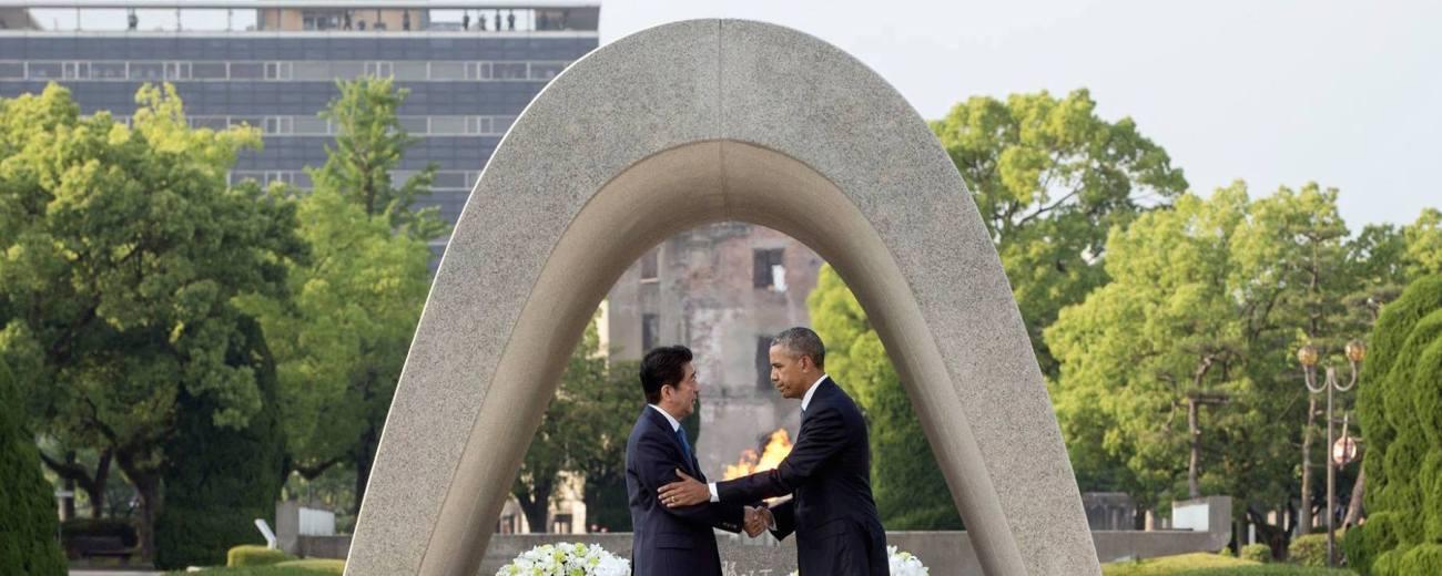 Shinzō_Abe_and_Barack_Obama_shaking_hands_at_the_Hiroshima_Peace_Memorial_Park